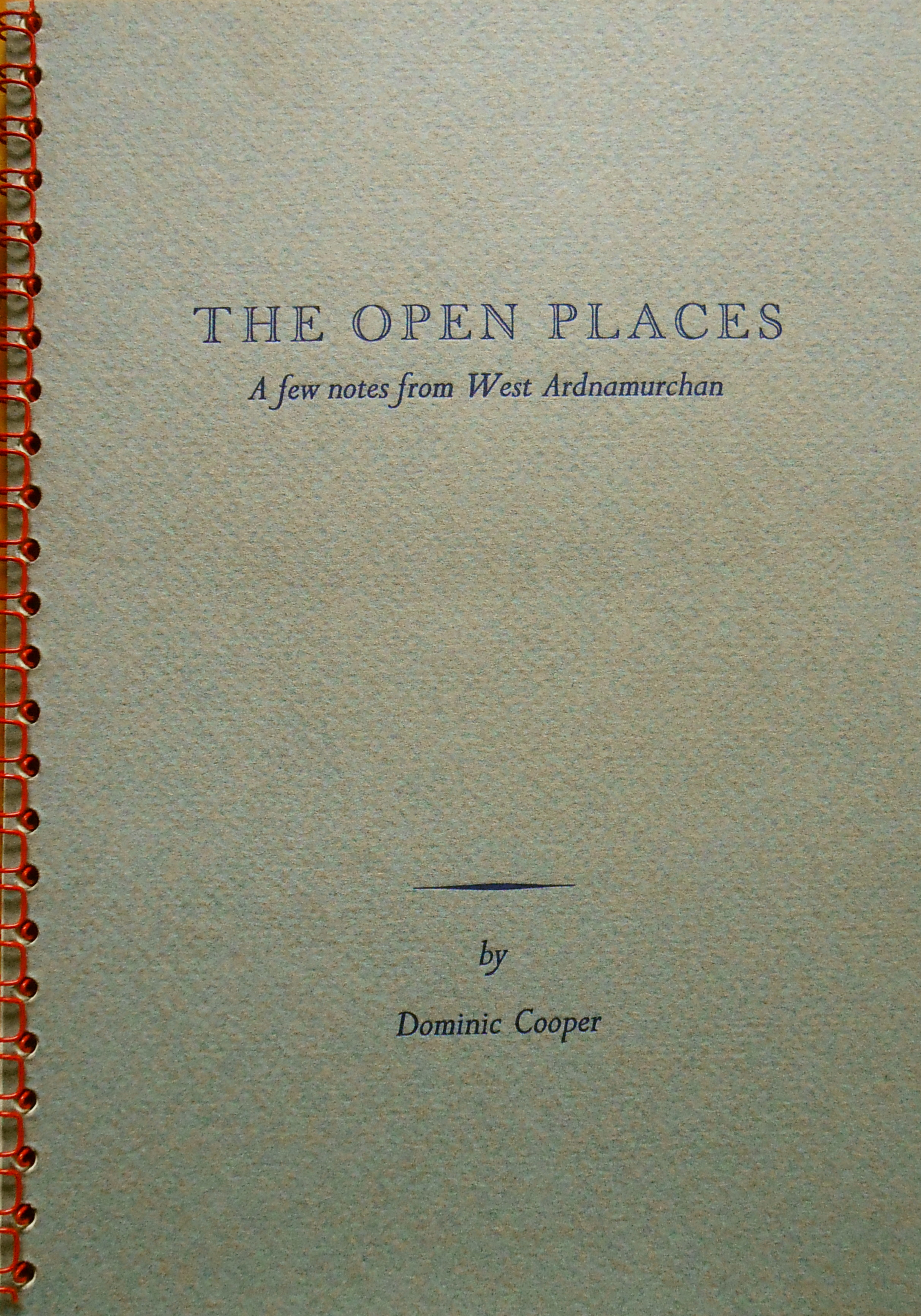 The Open Places